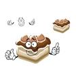 Cartoon slice of chocolate cake vector image