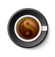 Coffee Cup with Yin-Yang Symbol vector image