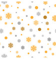 gold glittering snowflakes seamless pattern vector image