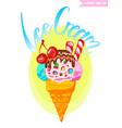 ice cream isolated vector image