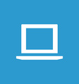 laptop icon white on the blue background vector image