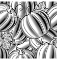 Seamless pumpkin background black and white vector image