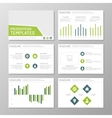 Set of green and blue template for multipurpose vector image