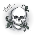 Skull Ornament Hand drawn vector image