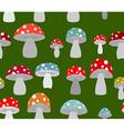 Toxic Amanita mushrooms seamless background vector image