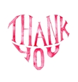 Watercolor Thank you heart vector image
