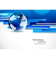 Background with blue globe vector image vector image