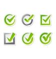 Check box icons vector image