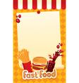 fast-food menu vector image vector image