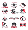 Fight club bages set vector image