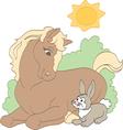 Sunbathing Horse vector image