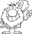 Cave man cartoon vector image vector image