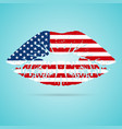 united states of america usa flag lipstick on the vector image