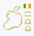 Colors of Ireland vector image