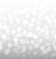 Silver Bokeh Wallpaper vector image