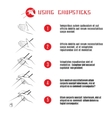 How to use chopsticks vector image
