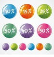 Glossy Icons for Web vector image