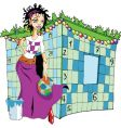 female crossword puzzle vector image vector image