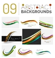 Set of smooth elegant identity waves vector image vector image