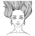 young beautiful woman tattoo poster vector image