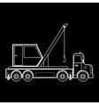 crane on the automotive platform special machine vector image