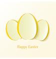 Creative Easter eggs vector image