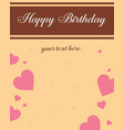 greeting card birthday party theme vector image