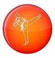 Wushu master icon flat style vector image