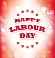 Happy Labour Day Canada greeting card vector image