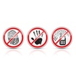 set of restrictive signs icons vector image vector image
