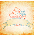 Grunge Cake Design vector image vector image