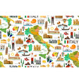 italy travel pattern vector image