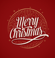 Merry Christmas Hand Drawn Calligraphic Lettering vector image