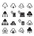 network technology icon set vector image