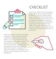 Line of a checklist vector image