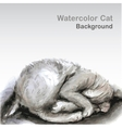 Watercolor cat - vector image