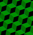 Abstract background with green squares vector image