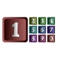Colorful numbers in the form of buttons vector image
