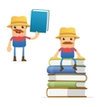 farmer with books vector image