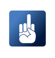 flat Web icon Symbol naughty on a blue vector image