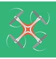 quadrocopter icon with long shadow flat style vector image
