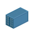 transport container isometric vector image