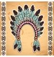 Tribal native American feather headband vector image