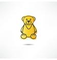 Upset bear vector image