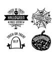 Happy Halloween design collection Black badges vector image