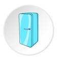 Refrigerator icon cartoon style vector image