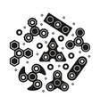 hand spinners icons set vector image