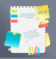 paper note composition vector image