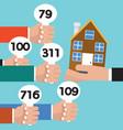 real estate auction conceptual vector image