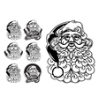 Santa Claus hand drawn llustration sketch vector image vector image
